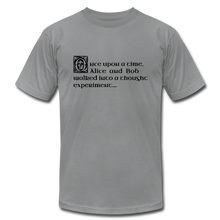 Load image into Gallery viewer, Alice and Bob: T-Shirt - slate