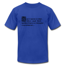 Load image into Gallery viewer, Alice and Bob: T-Shirt - royal blue