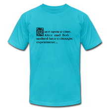 Load image into Gallery viewer, Alice and Bob: T-Shirt - turquoise