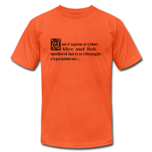 Load image into Gallery viewer, Alice and Bob: T-Shirt - orange