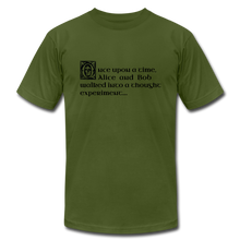 Load image into Gallery viewer, Alice and Bob: T-Shirt - olive
