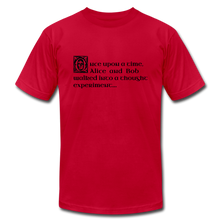 Load image into Gallery viewer, Alice and Bob: T-Shirt - red