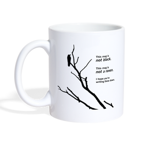 Paradox of the Ravens: Philosophy Mug - white