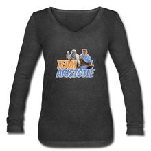 Load image into Gallery viewer, Team Aristotle: Women's Long Sleeve V-Neck Tee - deep heather
