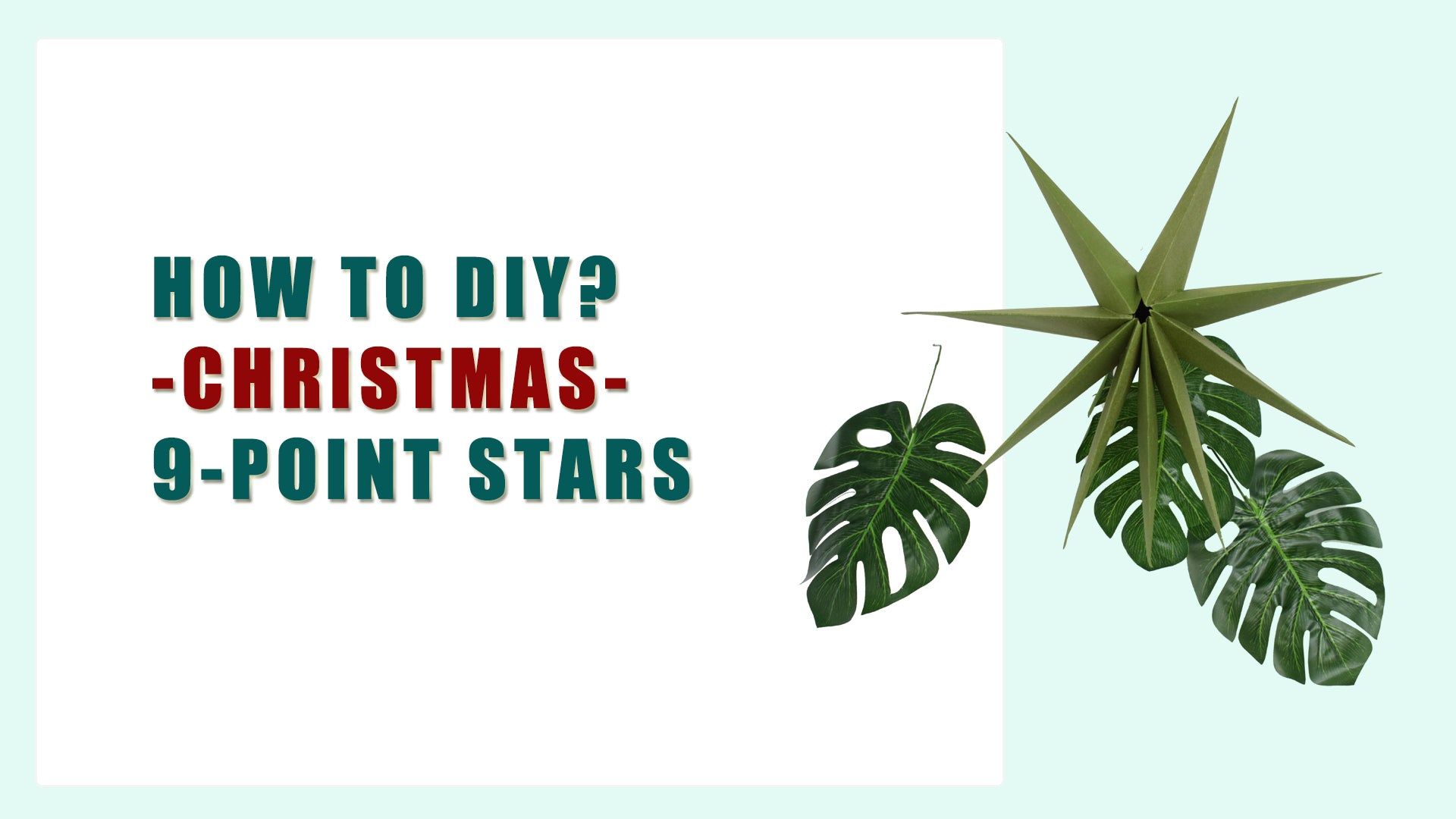 How To Make Paper Star Craft for Christmas Home Decoration (DIY)