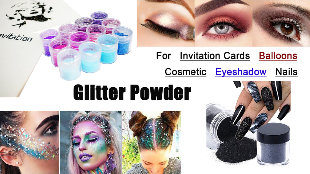 How To DIY Glitter Powder for Invitation Card, Balloon, Neil & Eyeshadow