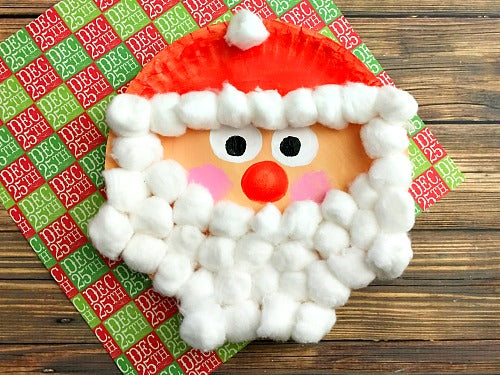 How To Make Christmas Santa Claus By Party Plates?