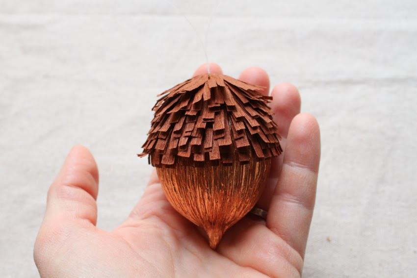 Thanksgiving Day Party Fall Home Ornaments Crepe Paper Acorns And Pine Cones