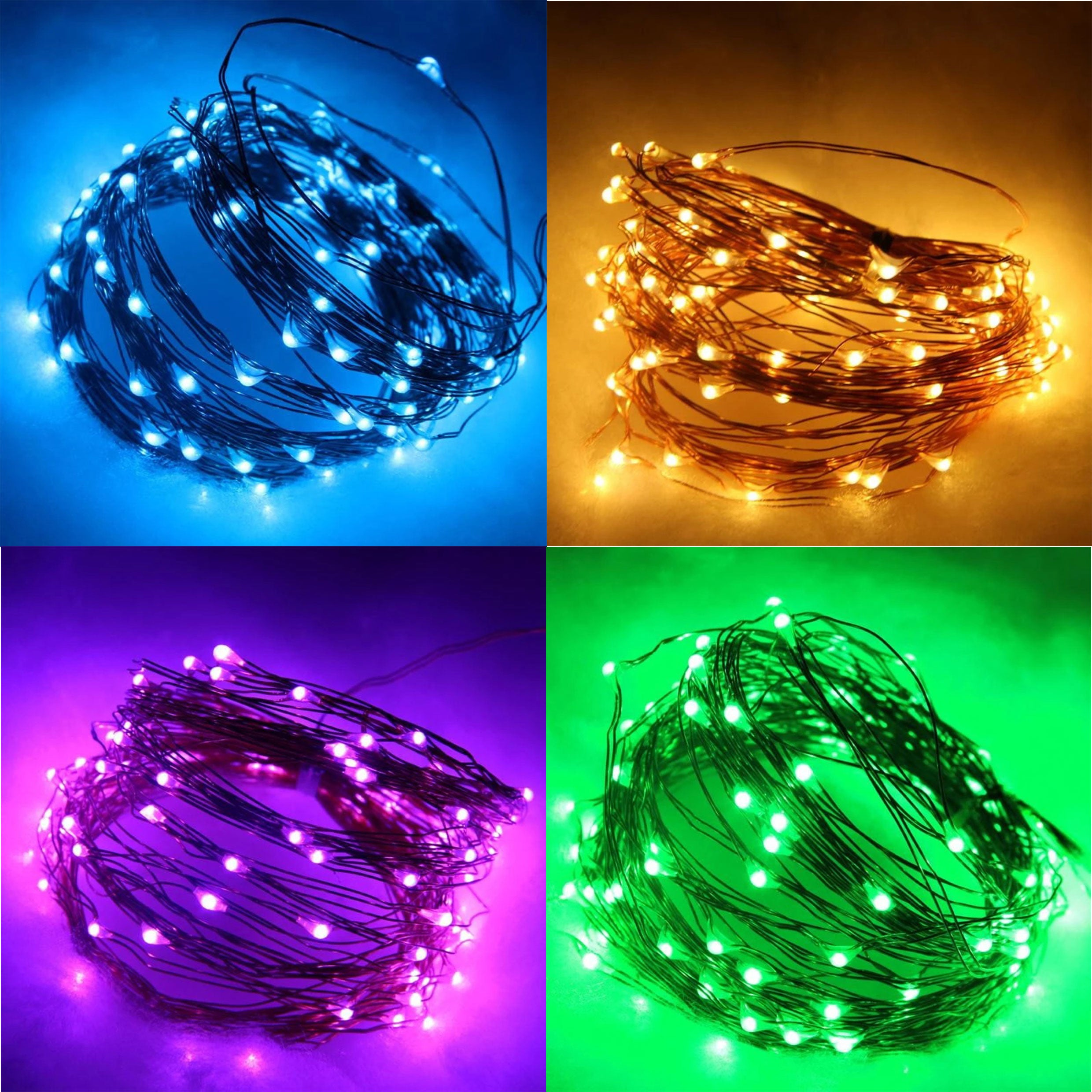 Monochrome LED Copper Wire Light String