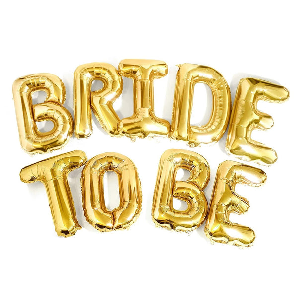 Bachelorette Party Gold Bride to BE Balloons
