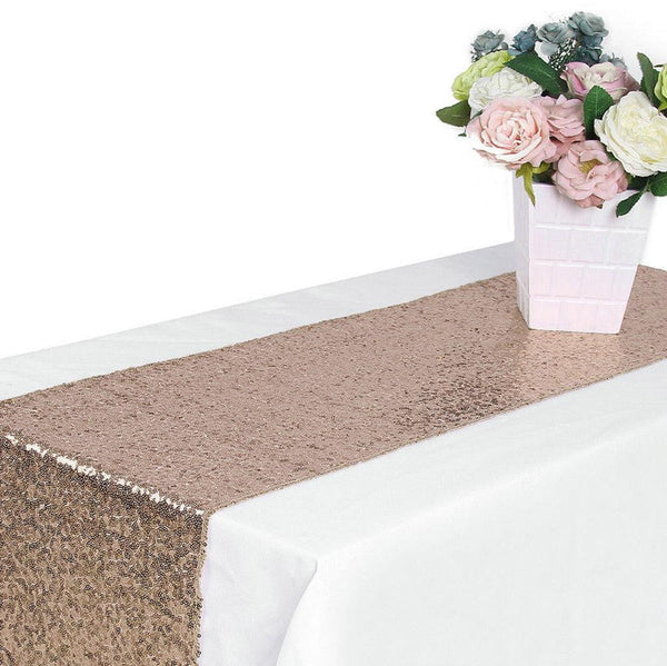 Wedding Rose Gold Table Runner - Sunbeauty