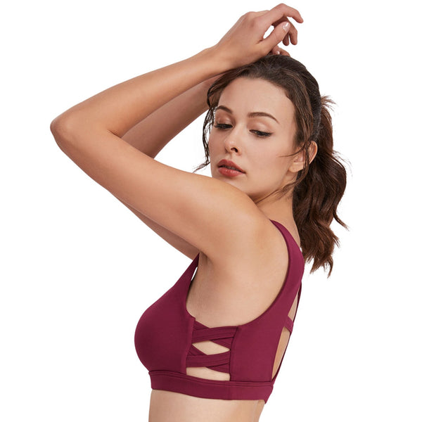 Hot Girls Sports Bra Yoga Hollow Out-Free Shipping