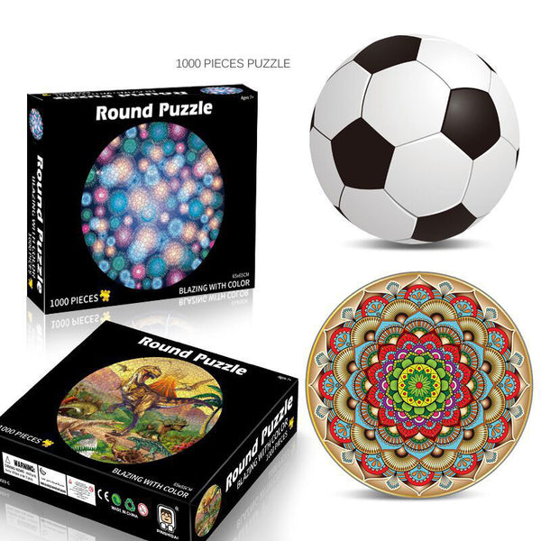 Round 1000 Piece Puzzles for Adults-FreeShipping