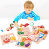 Kids 3D Puzzles Wood Cutting Fruits-FreeShipping