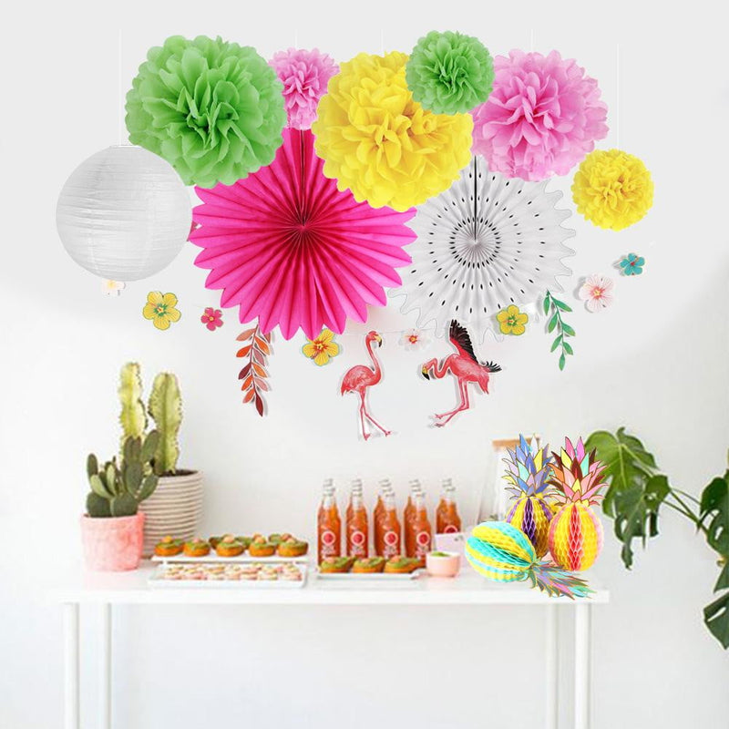 Summer Party Pineapple flamingo Aloha Decoration Kit
