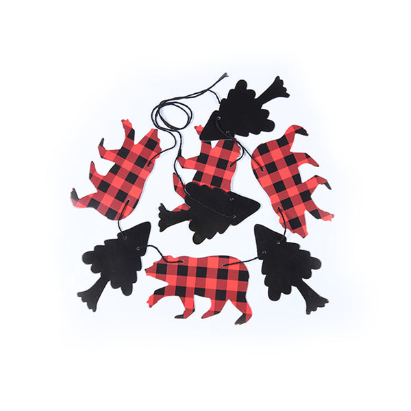 Lumberjack Theme Banner Garland for Kid Birthday - Sunbeauty