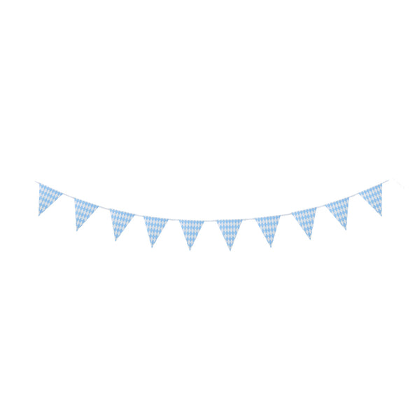 Blue&White Striped Pennant Flags String Triangle Bunting - Sunbeauty