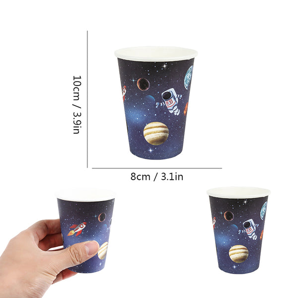 Solar System Outer Space Birthday Party Cups Plates Tableware - Sunbeauty
