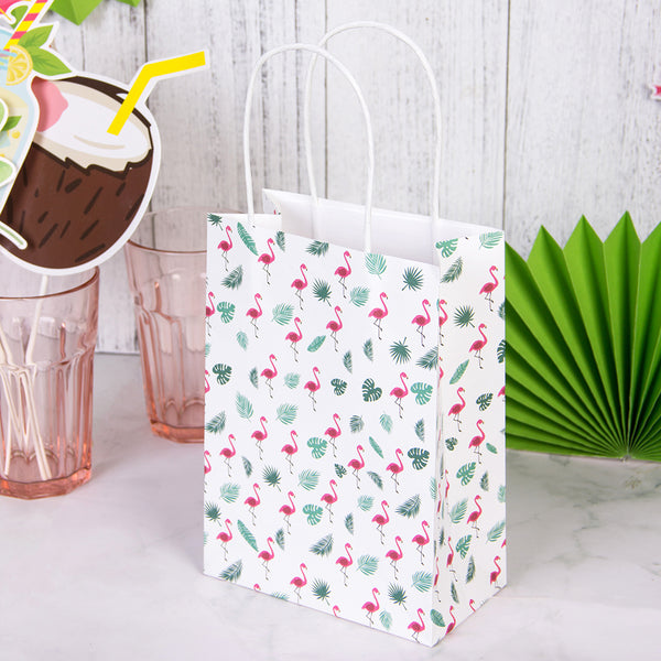 Tropical Themed Party Flamingo Gift Bags Favors for Kids(8Pcs) - Sunbeauty