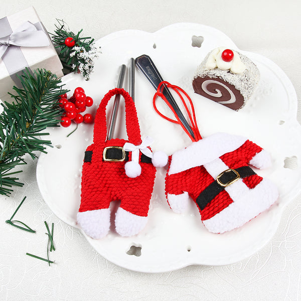 Christmas Tableware Knife and Fork Holders Bags - Sunbeauty