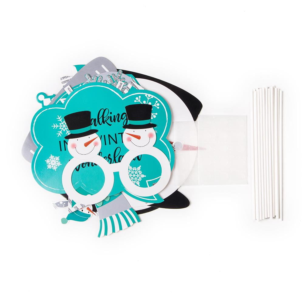 Winter Carnival Snowman Photo Booth Props(18Pcs)