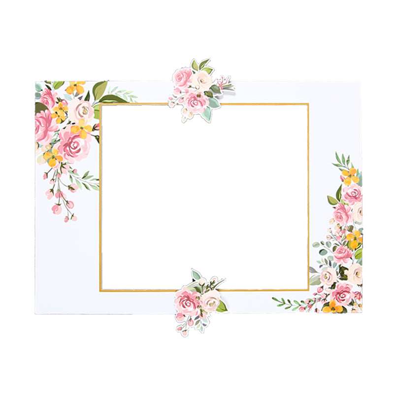 DIY Bridal Shower Wedding Flower Photo Booth Frame - Sunbeauty