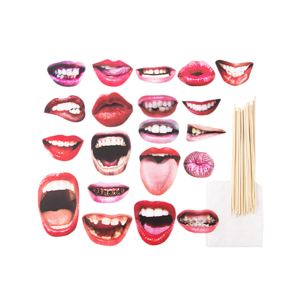 Party Favors Funny Laugh Lip Mouth DIY Photobooth Props - Sunbeauty