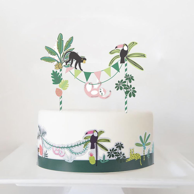 Jungle Party Cake Toppers - Sunbeauty