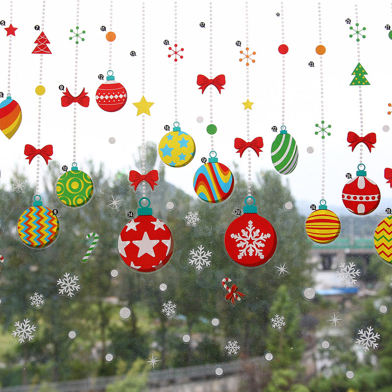Christmas Snowflakes Trees Window Clings Decal Xmas  Stickers - Sunbeauty