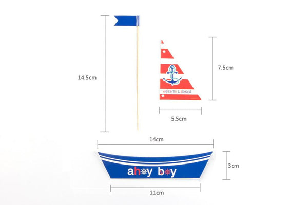 Boys Nautical Birthday Party Decoration Set - Sunbeauty
