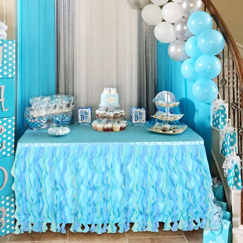 Baby Shower Party Table Decoation Tutu Table Skirt - Sunbeauty