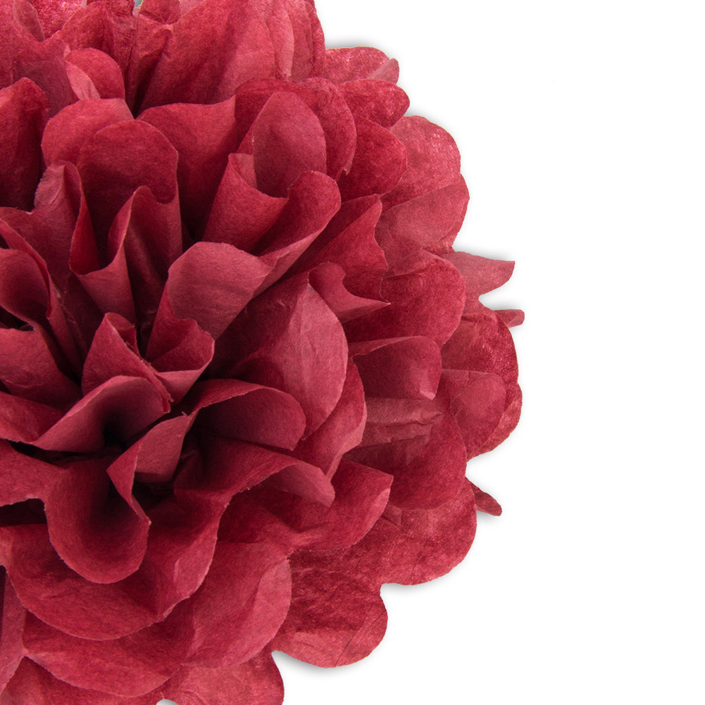 Wine Red Tissue Paper Pompom - Sunbeauty
