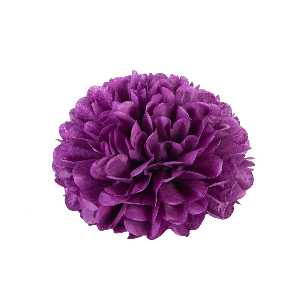 Purple Tissue Paper Pompom