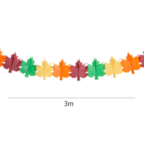 Thanksgiving Party Decorations Paper Maple Leaves Garlands - Sunbeauty