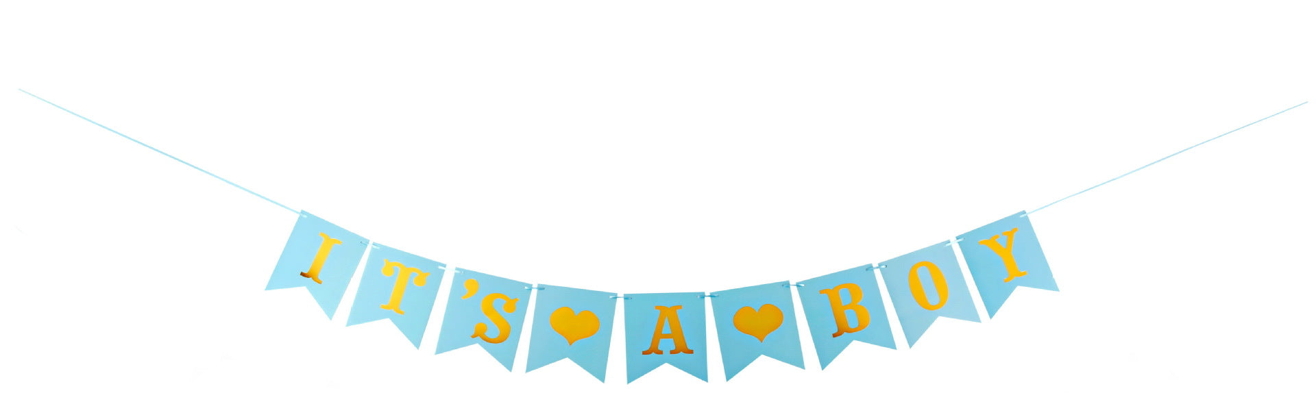 It's A BOY Banner Bunting Christening Baby Shower Garland-50Pcs Free Shipping - Sunbeauty