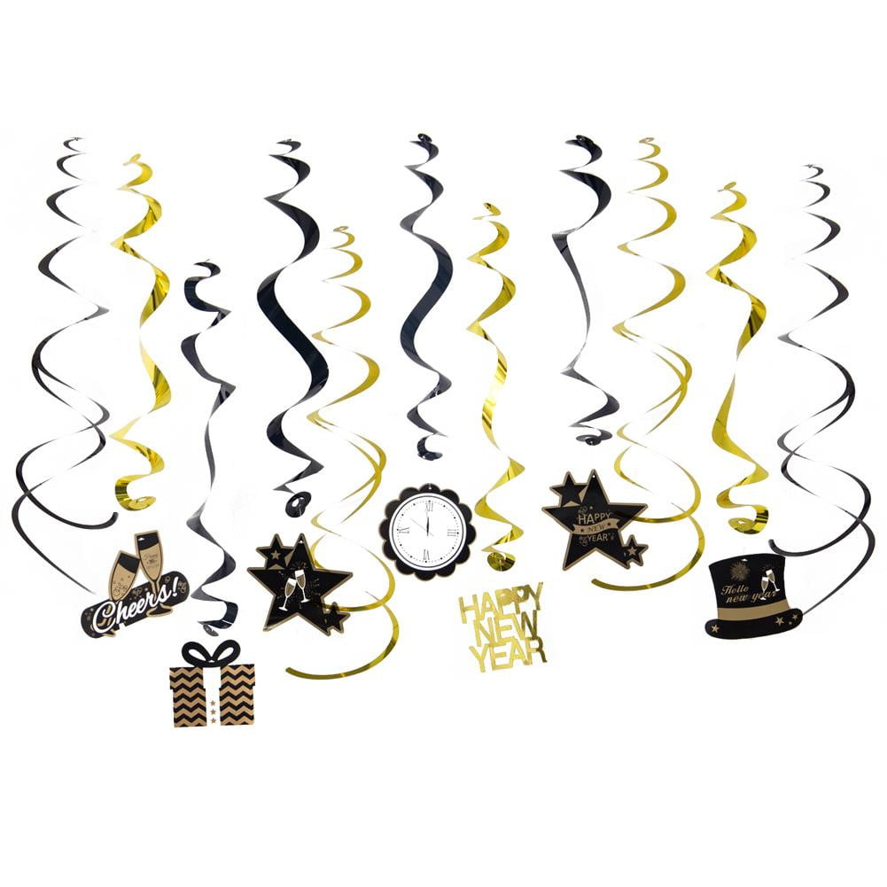 New Year hanging decor swirl - Sunbeauty
