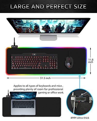 Large Extended Soft LED Gaming Mouse Pad-FreeShipping