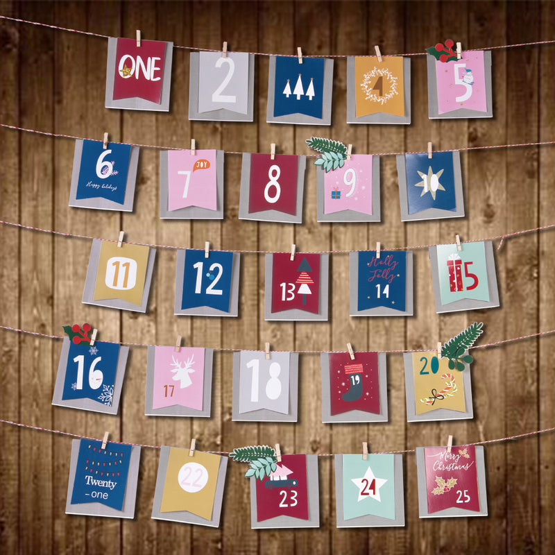Christmas Numbers Gift Bag Banner - Sunbeauty