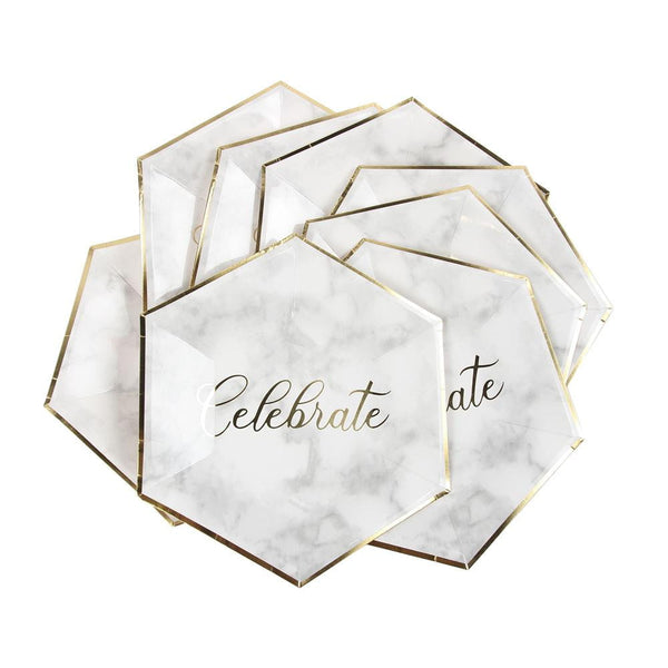 Celebrate luxury Paper Plate - Sunbeauty