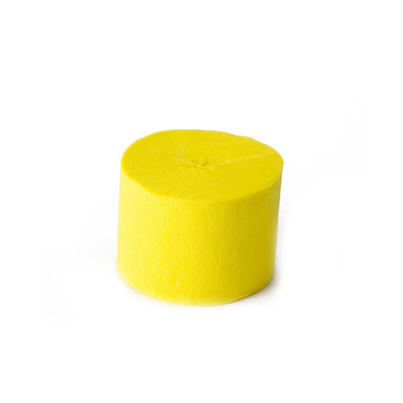 Yellow Crepe Paper Roll - Sunbeauty