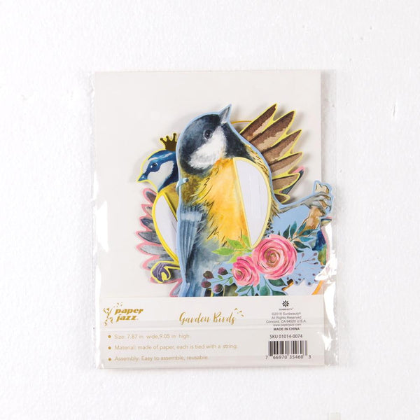 Garden Tea Party Birds Honeycomb Decor(3Pcs) - Sunbeauty