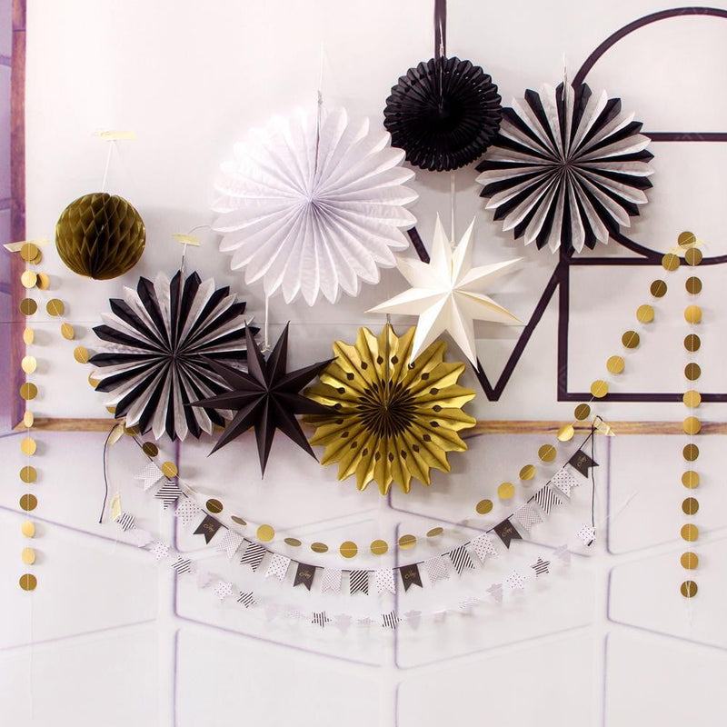 Black Gold&White Decoration Set(10Pcs) - cnsunbeauty