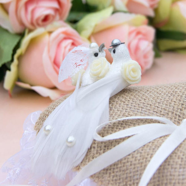 White Veil Wedding Dove - Sunbeauty