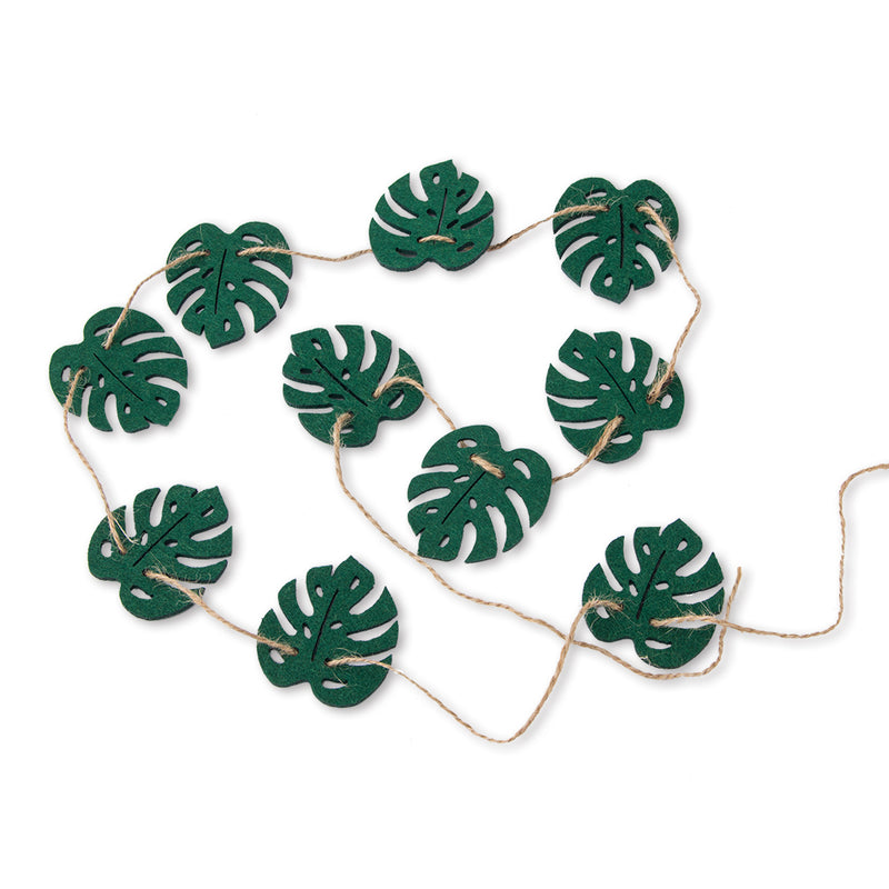 Hawaii Luau Party Summer Tropical Felt Leaf Garland - Sunbeauty