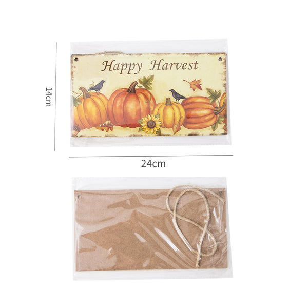 Harvest Thanksgiving Pumpkin Festival Hanging Board Door Decorations and Wall Signs - Sunbeauty