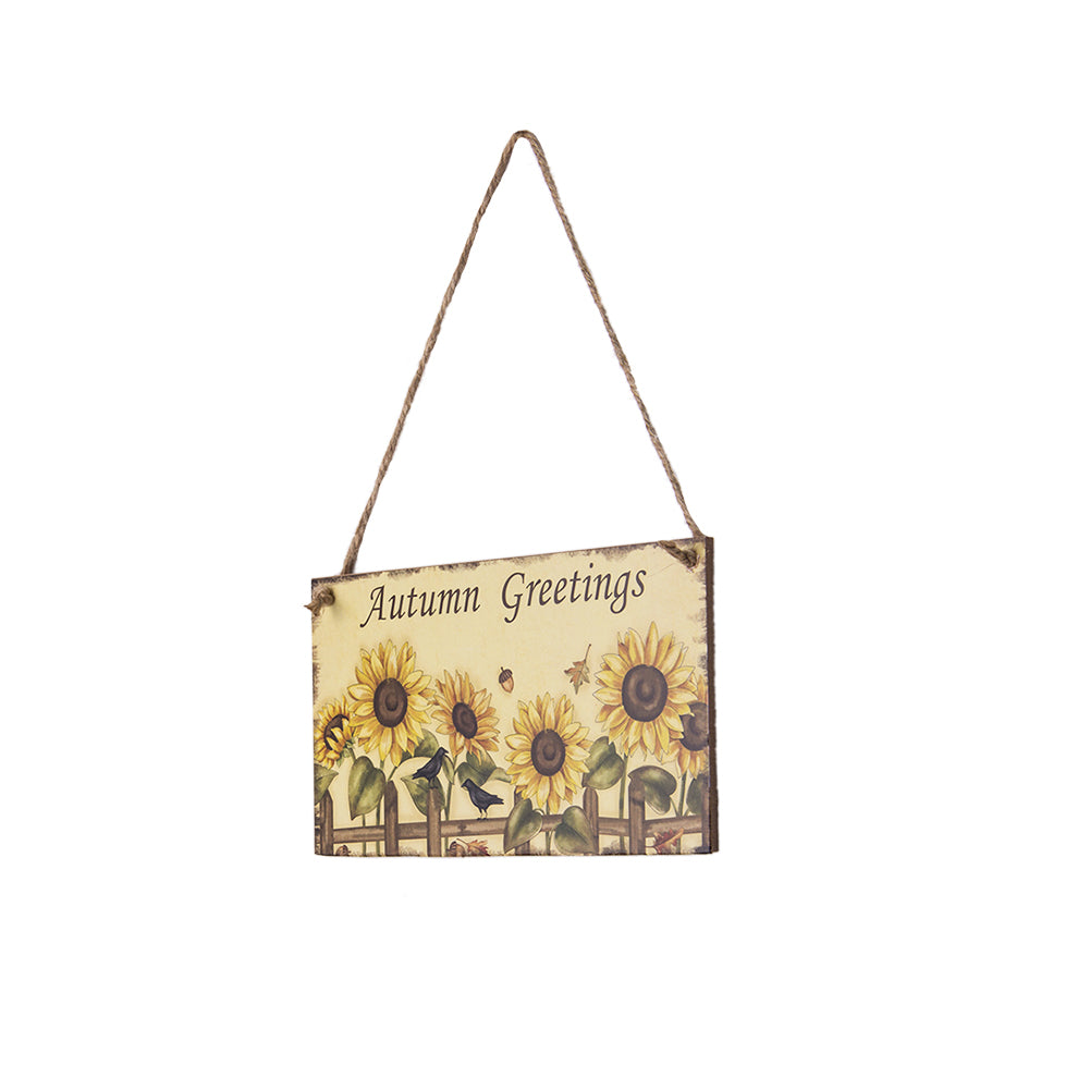 Harvest Thanksgiving Sunflower Festival Hanging Board Door Decorations and Wall Signs
