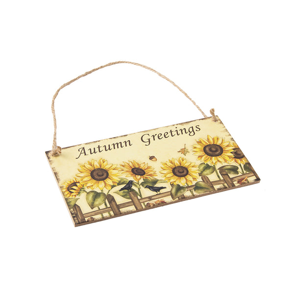 Harvest Thanksgiving Sunflower Festival Hanging Board Door Decorations and Wall Signs - Sunbeauty
