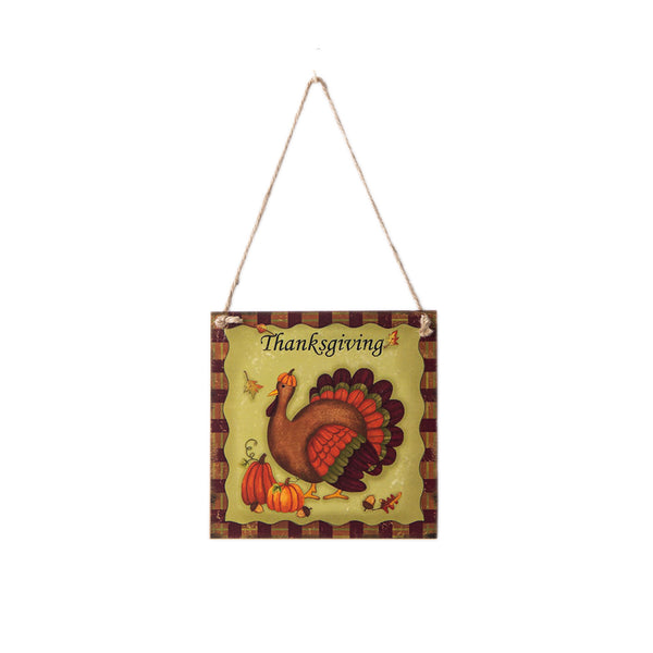 Harvest Thanksgiving Turkey Festival Hanging Board Door Decorations and Wall Signs - Sunbeauty