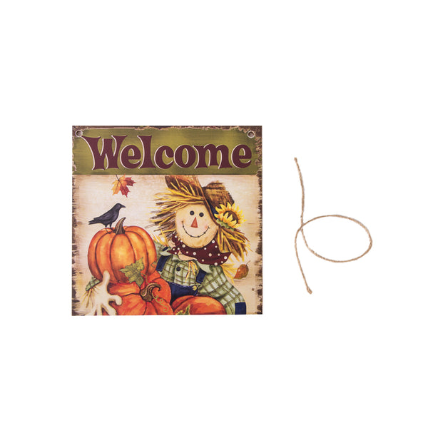 Harvest Thanksgiving Scarecrow Festival Hanging Board Door Decorations and Wall Signs - Sunbeauty