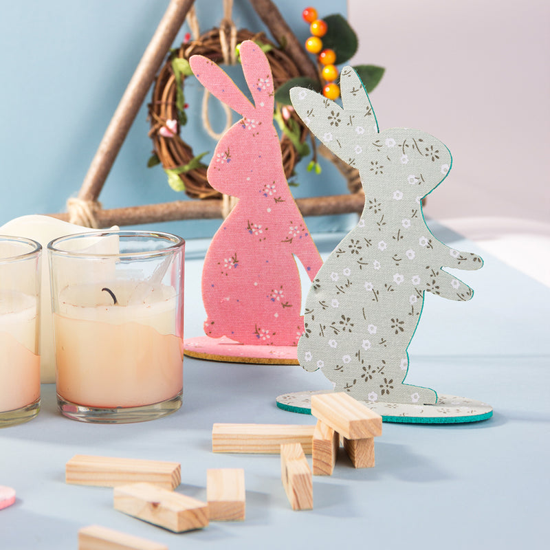 Easter Bunny Rabbit Party Supplies Felt Craft Table Centerpiece - Sunbeauty